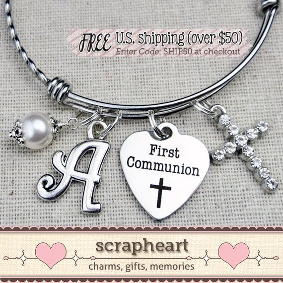 FIRST COMMUNION Bracelet Girls First Communion Gift, by ScrapheartGifts