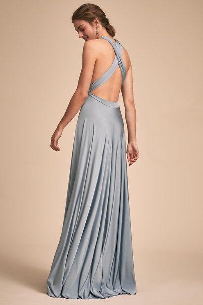 72d66591669 Dusty Blue Ginger Convertible Maxi Dress