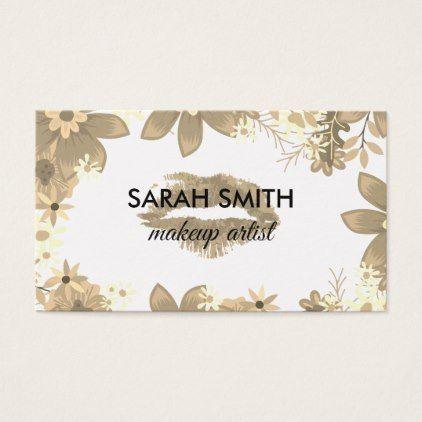 Elegant Floral Arrangement / Kiss Business Card - floral gifts flower flowers gift ideas