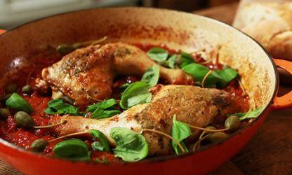 Hähnchenschenkel auf italienische Art