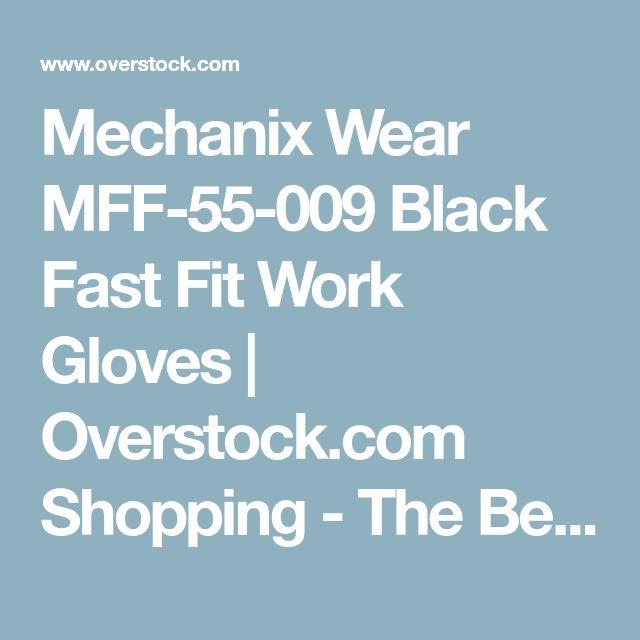 Mechanix Wear MFF-55-009 Black Fast Fit Work Gloves   Overstock.com Shopping - The Best Deals on Heavy Duty Gloves