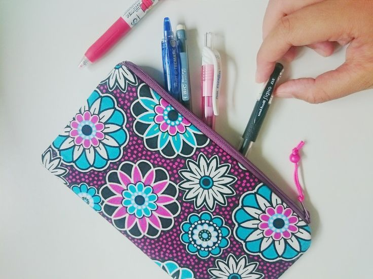Pretty Pouch Bold Purple Turquoise Floral Prints  from MyGooseyGoosey by DaWanda.com