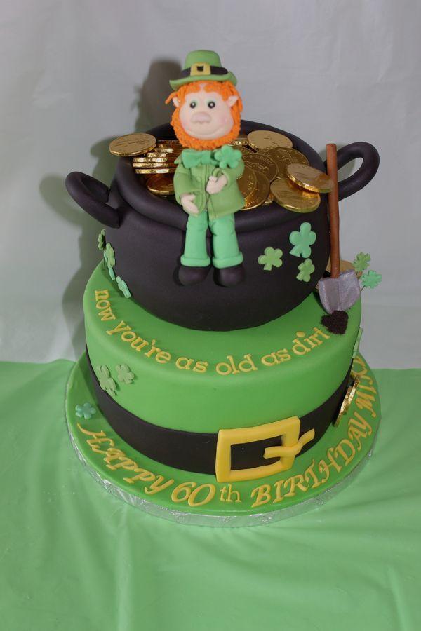 Happy 60th Irish themed cake for an Irishman