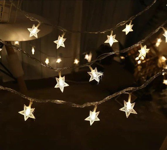 Warm White Led Twinkle Star Battery Operated Party Fairy Lights