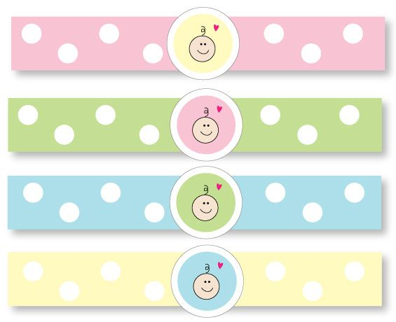 Free printable baby shower napkin rings! #babyshowers