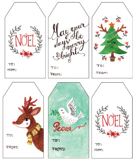 printable gift tags | These beautiful watercolor gift tags are from ...
