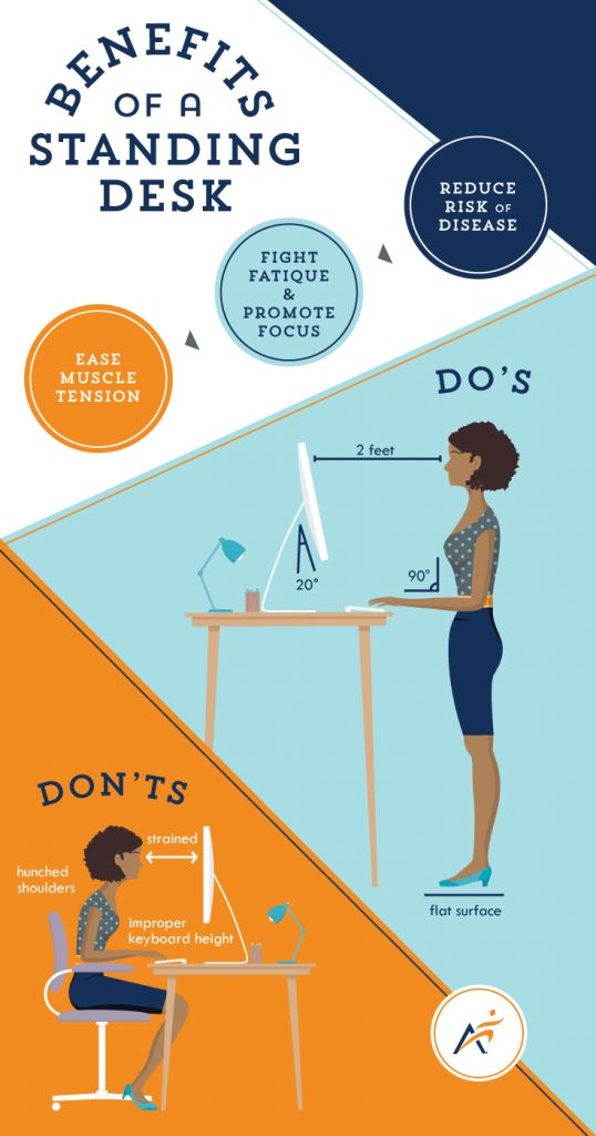 Sitting is Out, Standing is In! Check out the health benefits of having a standing desk.