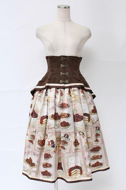 EXCENTRIQUE / Desser Print Corset Skirt   Closet Child Online Shop