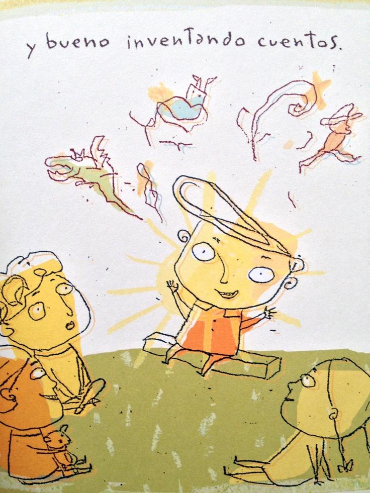 Ilustración de Petit El Monstruo de Isol    #Isol #ocholibros #book #libro #illustration #ilustracion