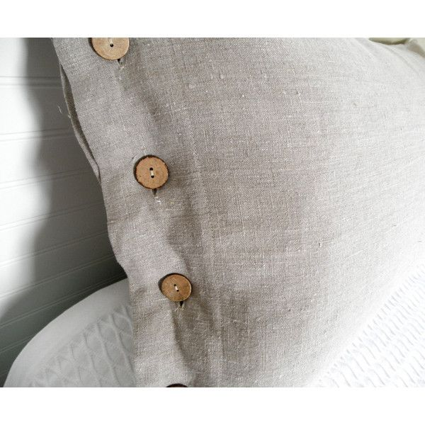 Linen Pillow Sham, Linen Sham, Pillow Cover, Bed Pillow Sham, 100%... ($54) ❤ liked on Polyvore featuring home, bed & bath, bedding, bed accessories, white shams, white linen pillow shams, rustic bedding, black shams and black pillow shams