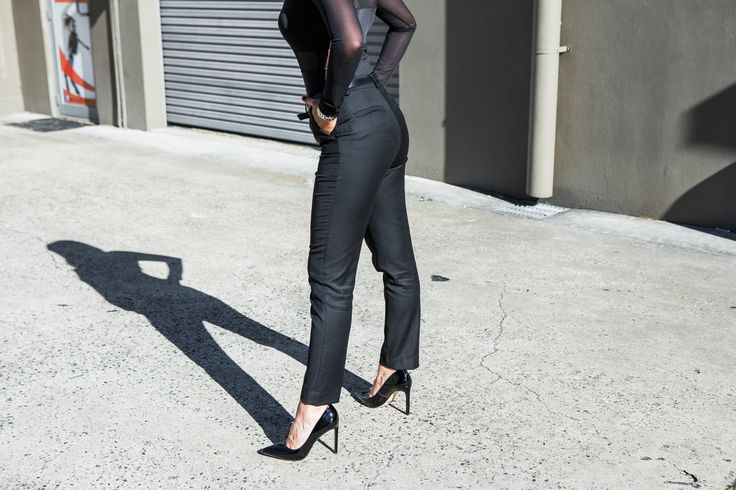 Designer women's suits for professional women.  Ethically crafted by hand in Australia. Made from luxurious Australian Merino wool, these trousers are naturally wrinkle-resistant, breathable and comfortable.