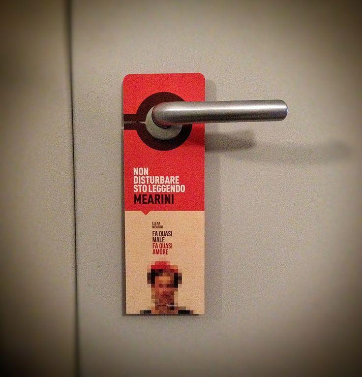 Mearini bookmark hung at my door..
