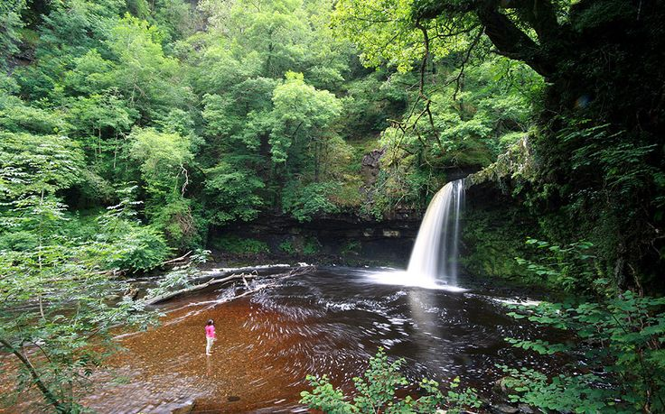 The best places to go wild swimming near waterfalls in the UK, from rivers in   Cornwall to pools in National Parks in Yorkshire, the Lake District and   Scotland