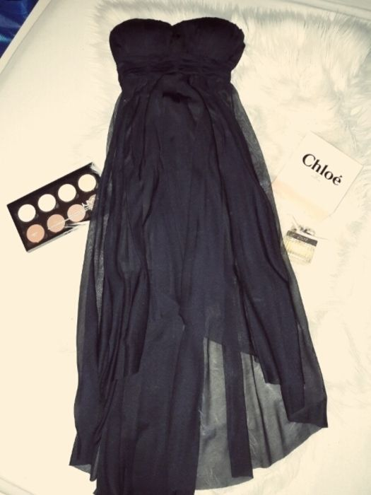 Schönes trägerloses Kleid von Tally Weijl Gr.34 xxs xs