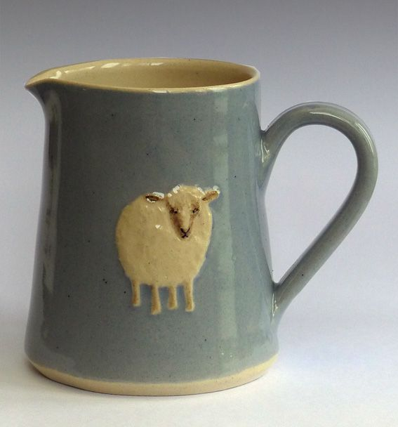 My absolutely favorite of her pottery - sheep pitcher -- Hogben Pottery