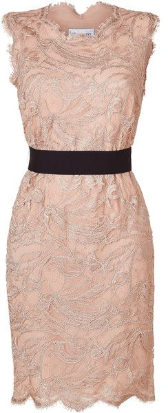 Emilio Pucci Colonial Rose Lace Dress in Pink (rose)