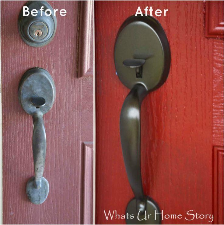 Easy way to update your front door -paint! - Whats Ur Home Story