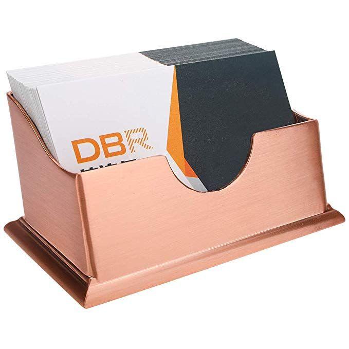 Amazon Com Business Card Holders For Desk Rose Gold Card Holder Hand Made Brushed Design High End Luxury Car Luxury Card Business Gifts Business Card Holders