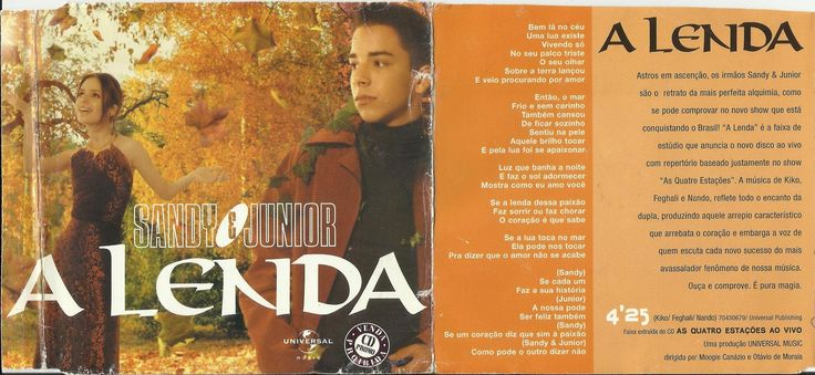CD - Single - Sandy & Junior - A Lenda
