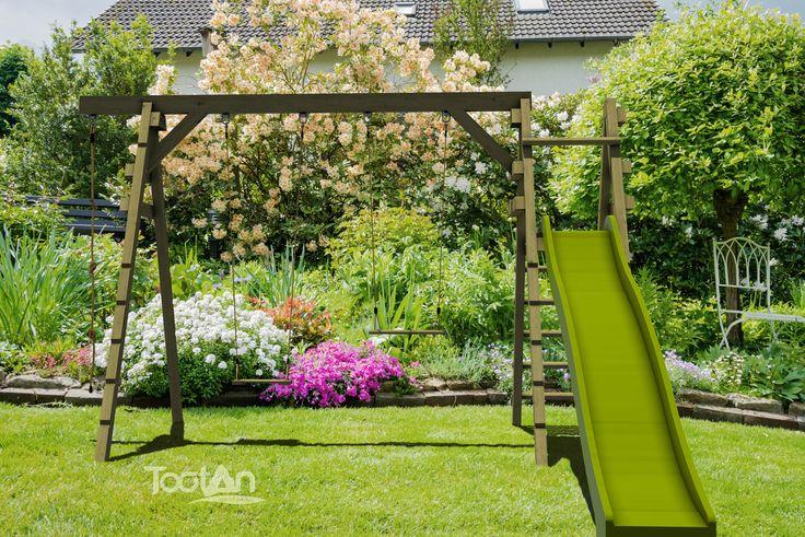 jeux pour enfants portiques tootan mobilier ext rieur tootan pinterest portique. Black Bedroom Furniture Sets. Home Design Ideas