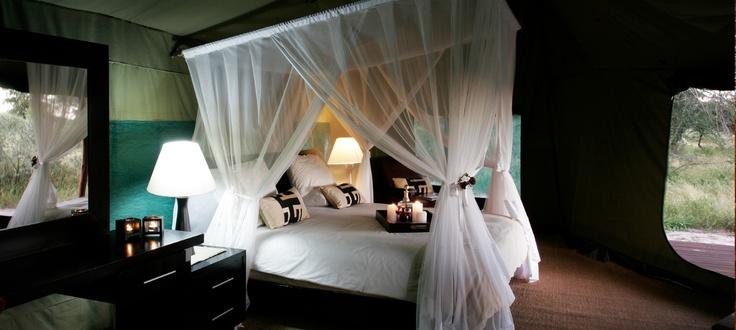 Haina Lodge four-poster bed  #kalahari #botswana #safari #africa #travel #bushmen #desert #bigfive #wildlife #animals #lodgeaccommodation #gameviewing