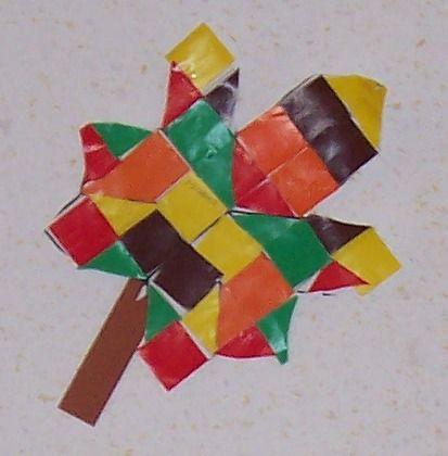 Herfstblad mozaïek - voorbeeld