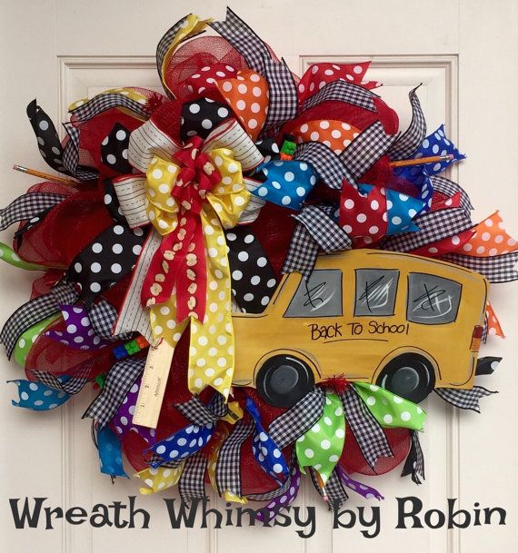 25 Best Ideas About School Wreaths On Pinterest