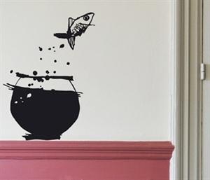 Akvariefisk som wallsticker til boligen. Køb online i vores webshop.