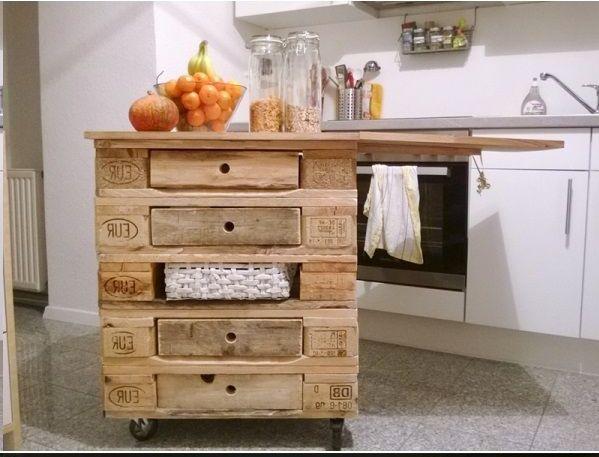 oltre 20 migliori idee su cucina con isola pallet su pinterest ... - Mensole Fatte Con I Bancali