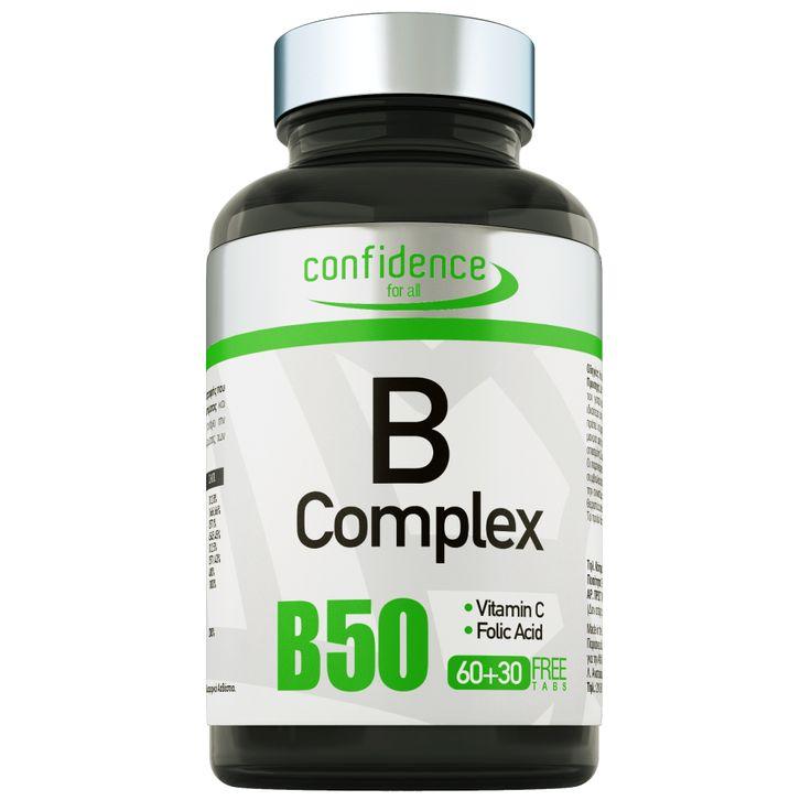 Τι είναι;  To B-complex της Confidence είναι ένα συμπλήρωμα διατροφής που συνδυάζει σύμπλεγμα βιταμινών Β, φολικό οξύ και βιταμίνη C, συστατικά που παίζουν βασικό ρόλο σε πληθώρα διαδικασιών στον οργανισμό.  Πιο συγκεκριμένα το B-com...