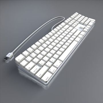 Apple Keyboard 3d Model This Is A Highly Detailed Model Of An