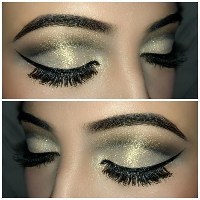 Gold Glitter Cut Crease by Trends-Style