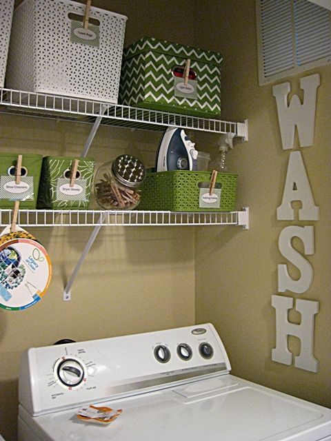 WASH Letters for Laundry Room