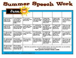 Summer Speech Work for June July August.  Pinned by SOS Inc. Resources.  Follow all our boards at http://pinterest.com/sostherapy  for therapy resources.