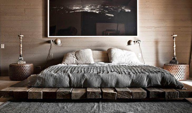 Bett selber bauen für ein individuelles Schlafzimmer-Design_diy bett aus holzbrettern