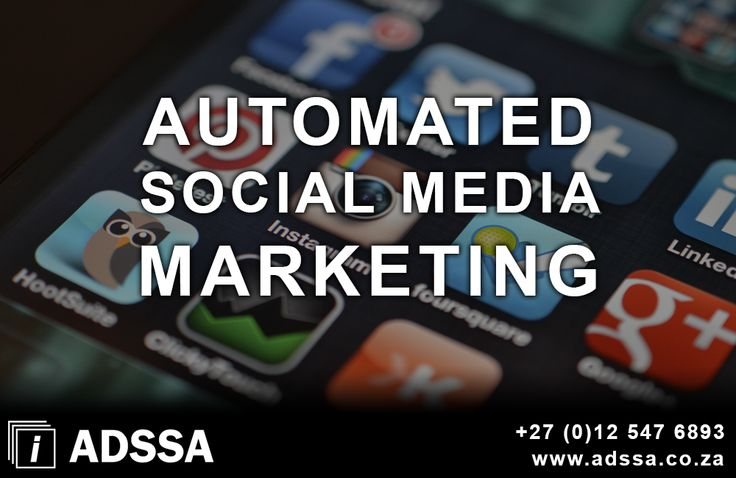 Automated Social Media Marketing     Save time with automated posting to you favorite social media profiles   Schedule your posts in advance for a specific date and time   Be present by consistent regular postings   Enlarge your online exposure   Create brand awareness online     http://adssa.co.za/automated-social-media-marketing-3/