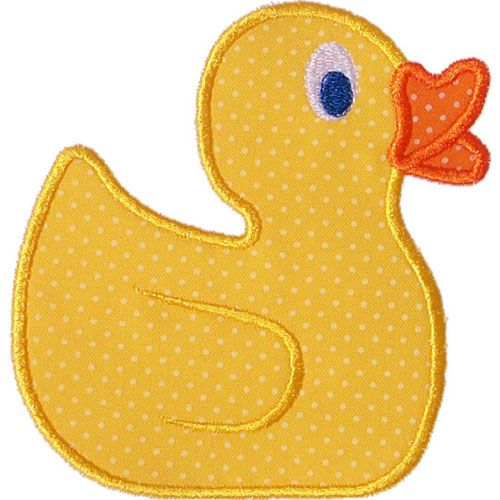 Rubber Duck Applique by HappyApplique.com