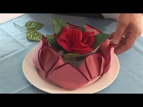 How To Make A Lotus Napkin - YouTube