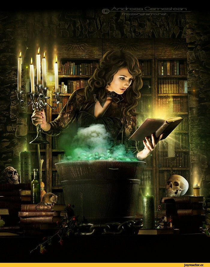 f Wizard or Witch lab & library Bruxas, Bruxa arte