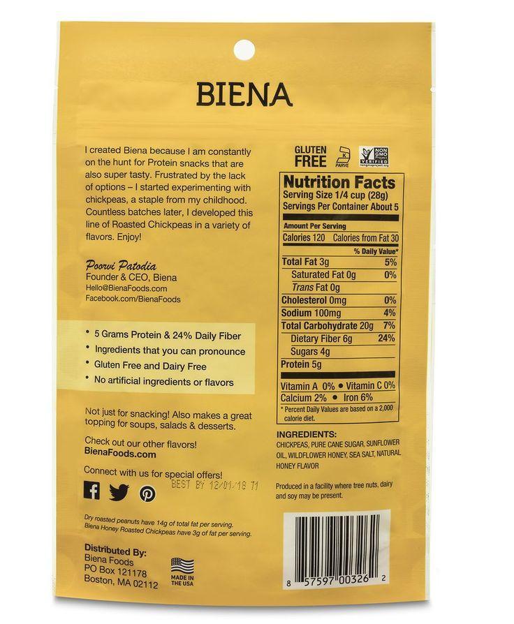 Honey Roasted Chickpeas | Biena Crunchy Chickpea Snacks – Biena Snacks   – AGVIT
