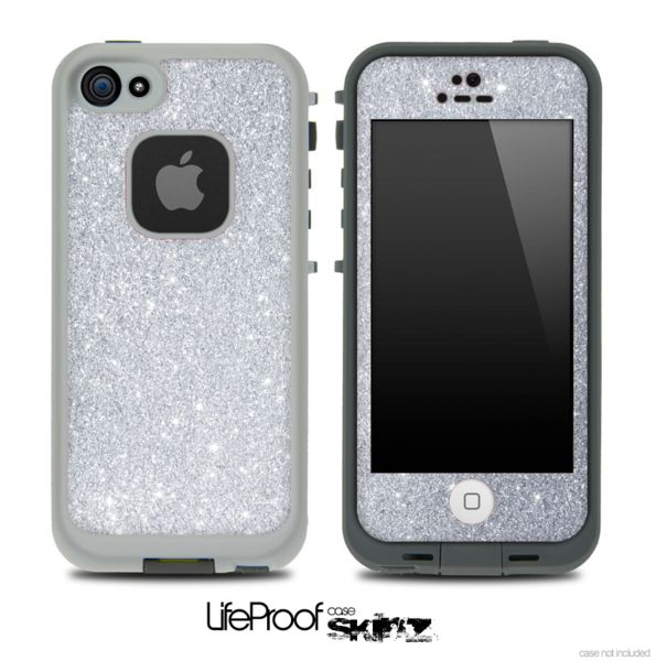 Silver Glitter Skin for the iPhone 5 or 4/4s LifeProof Case