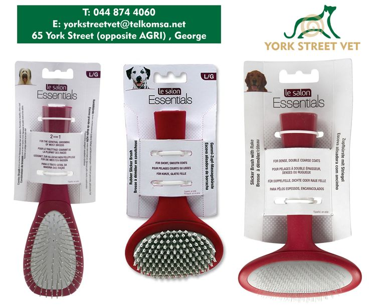 Just like us humans, dogs love to be groomed and it's also necessary to keep their coats healthy and shiny. Spoil your best friend with a Le Salon Essentials dog brush from #YorkStreetVets today! #grooming #dogs