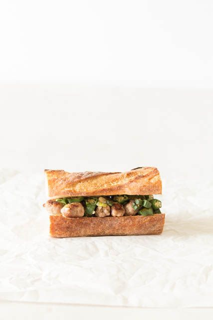 Okra Sausage Sandwich Recipe |  Recipes From A Pantry