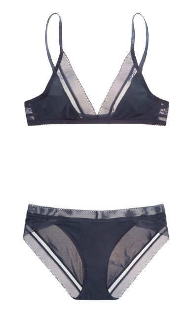 MY LINGERIE | Calvin Klein | Icon stretch-satin soft-cup triangle bra and briefs