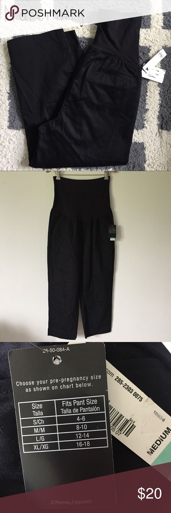 Maternity black cropped pants sz M. NWT! Maternity black cropped pants. NWT! Size: M (8-10 per tag). Inseam: 22 inches. Full belly panel. Loose fit. Cropped style. Pockets. Brand new. Perfect for casual wear or dressed up for work or a night out! duo maternity Pants Ankle & Cropped