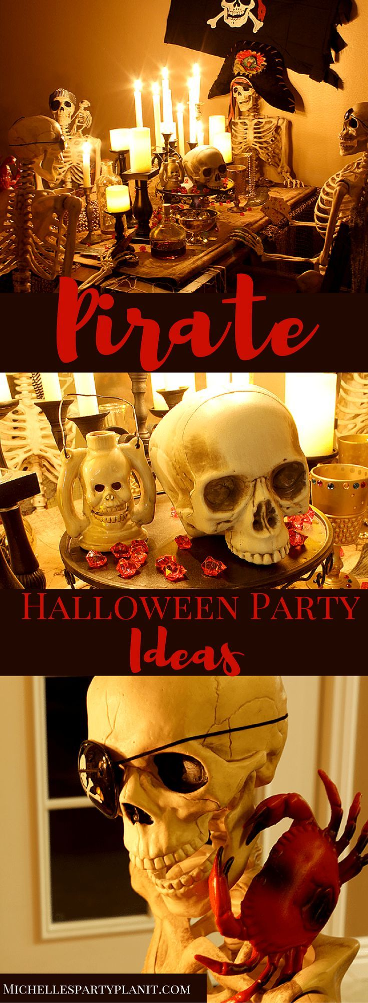 Host your very own Pirate Dinner Party this Halloween with a few fun props and a big batch of delicious Fluffy Orange Ambrosia by Michelle's Party Plan-It.