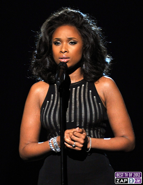 Jennifer Hudson's tribute to Whitney Houston at the 2012 Grammys