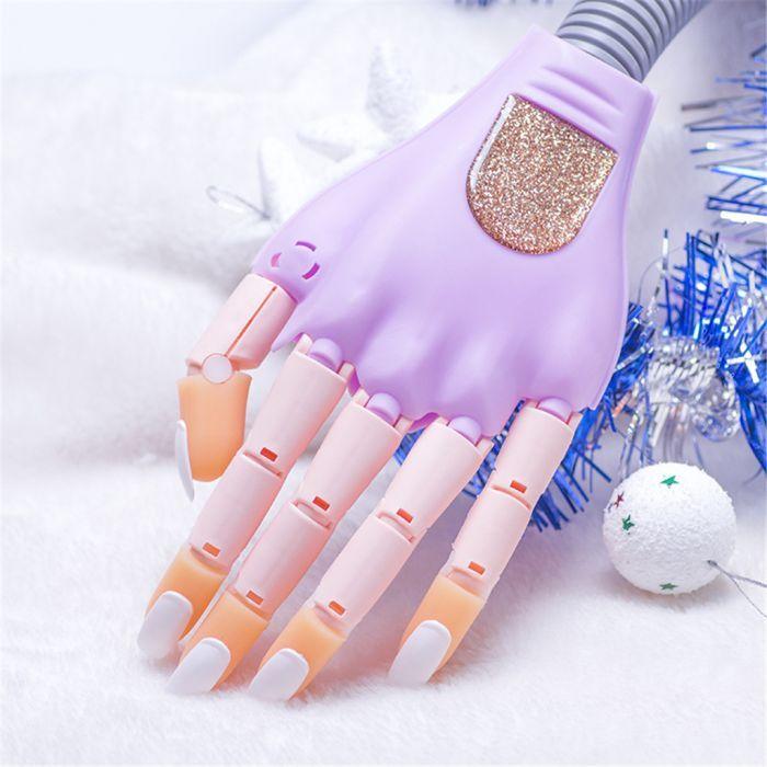 Clip On Nail Trainer Diy Nail Art Practice Hand Kit With 100pcs Fake Fingernails Diy Nails Purple Nails Halloween Nail Art
