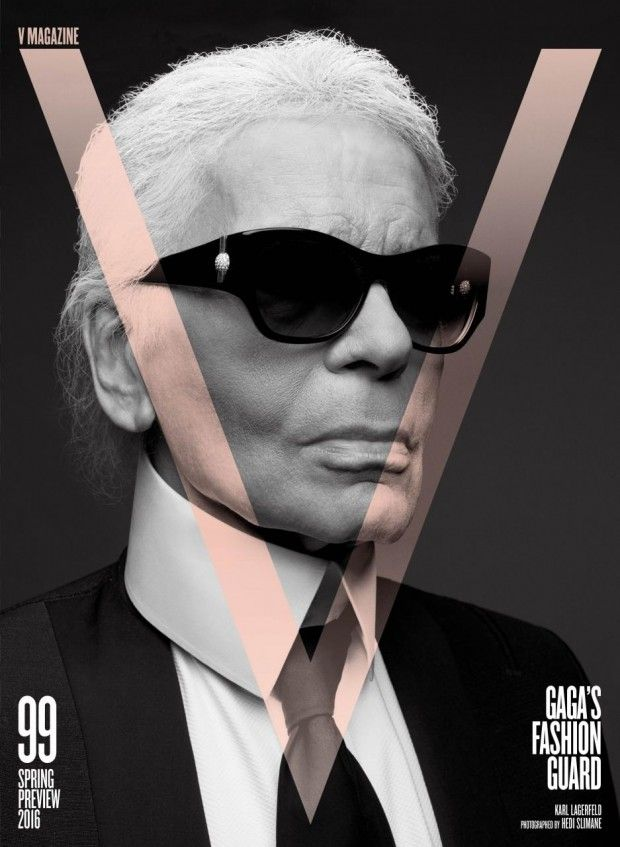 Hedi Slimane and Karl Lagerfeld Team Up for V MAGAZINE