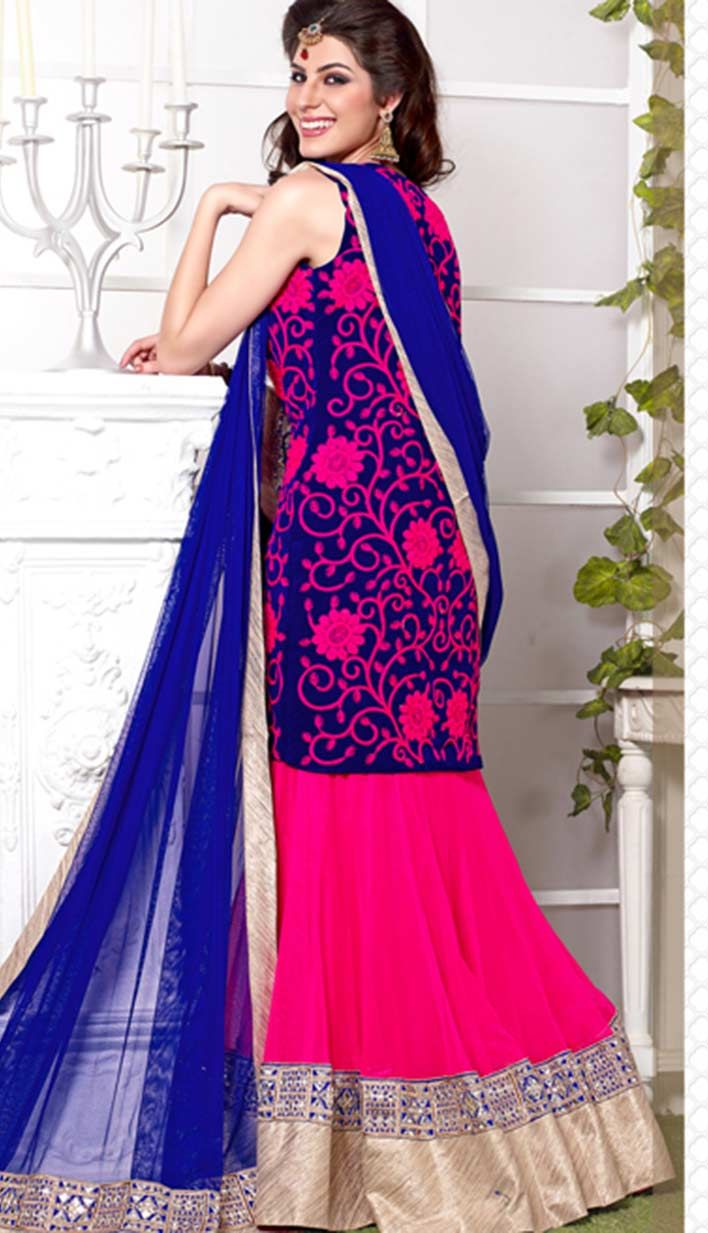 Shop Fashionable Indian #Pink Georgette #BridalLehangaCholi Product code: KBL-33569 Price: INR7953 (Unstitch Blouse), Color: Pink Shop Online now: http://www.efello.co/Bridal_Fashionable-Indian-Pink-Georgette-Bridal-Lehanga-Choli_18393